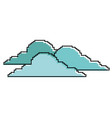clouds pixel climate day nature vector image vector image