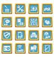 computer repair service icons set sapphirine vector image vector image