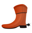 cowboy boot icon cartoon style vector image
