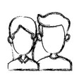 cute couple cartoon vector image vector image