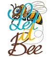 Cute little bee flying vector image