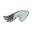 drawing wing feather animal icon vector image vector image