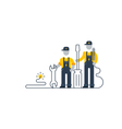 Electric workers with tools internet support vector image vector image