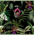 exotic flowers seamless pattern vector image vector image