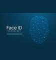 face recognition biometric id face scan vector image