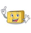 finger gouda cheese mascot cartoon vector image vector image