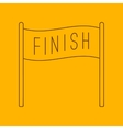 Finish banner line icon vector image vector image