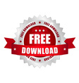 Free download button vector image vector image