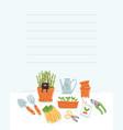 garden tools template vector image vector image
