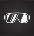 glasses icon on black background for graphic and vector image