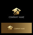 gold house renovation company logo vector image vector image