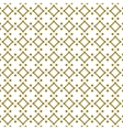 Golden line pattern on white background vector image vector image
