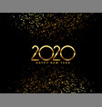 happy new year 2020 celebration background with vector image