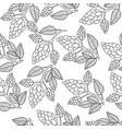 hops seamless pattern hand drawing doodle style vector image vector image