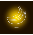 Image Banana in the Contours vector image vector image