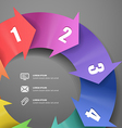 Infographic modern color scheme template
