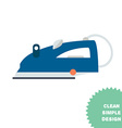 Isolated steam iron icon vector image
