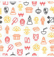 korea travel and tourism seamless pattern vector image