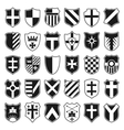 Large set of heraldic shields vector image vector image
