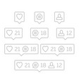 like follower comment icon vector image vector image