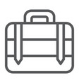 luggage line icon bag and baggage suitcase sign vector image vector image