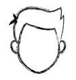 man character face avatar male cartoon vector image vector image