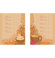 menu coffee shop and restaurant set vector image vector image