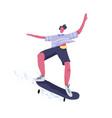 modern male skateboarder riding skateboard young vector image vector image