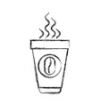 monochrome blurred silhouette of disposable cup vector image vector image