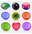 Multicolored soap remnants set vector image