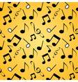 Musical background seamles vector image vector image