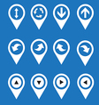 navigation icons arrows vector image