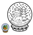 numbers game for children snowball with deer vector image vector image