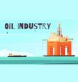 offshore platform industrial composition vector image vector image