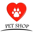 pet shop symbol vector image vector image