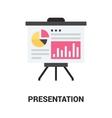 presentation icon concept vector image vector image