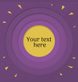 purple background with color paper cut vector image vector image