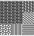 rough brush strokes vector image