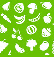 seamless background with vegetables and fruit vector image vector image