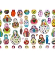Seamless pattern with russian nesting dolls vector image vector image