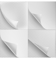 Set of 4 Blank Sheets paper EPS 10 vector image