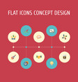 set of idea icons flat style symbols with planning vector image vector image