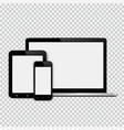 set of modern technology devices template for vector image vector image
