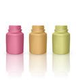 set of realistic plastic bottles mock up vector image vector image