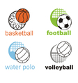 signs and symbols sports ball vector image vector image