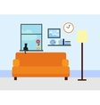 Sitting room in flat style vector image vector image