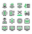 smart farm icon vector image vector image