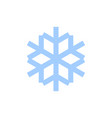 snowflake icon blue silhouette snow flake sign vector image vector image