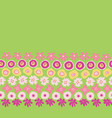 sping flowers seamless repeat border green vector image