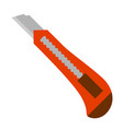 stationery knife vector image vector image